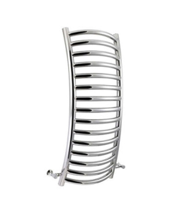 Vogue Flexx Designer Curved Heated Towel Rail 1240mm H x 550mm W Electric CN015 BR124055CP-E