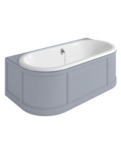 Burlington London Back to Wall Surround Acrylic Bath 1800mm x 950mm In Grey - E23G BU10500