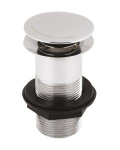 Nuie Wastes & Extras Chrome Contemporary Push Button Basin Waste - EK304 EK304