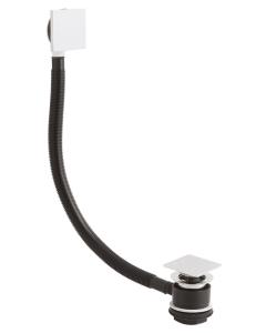 Nuie Wastes & Extras Chrome Contemporary Push Button Bath Waste - EK308 EK308