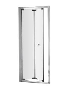 Nuie Ella Bi-Fold Door Satin Chrome Contemporary 800mm - ERBD80 ERBD80