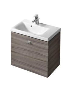 Ideal Standard Concept Space Wall Hung Vanity Unit with RH Basin 700mm Wide in Elm - E0317KS + E134201 IS10568