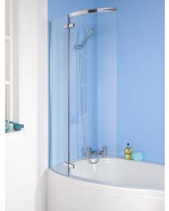 Nuie Ella Screens Satin Chrome Contemporary Curved Bath Screen - ERCS0 ERCS0