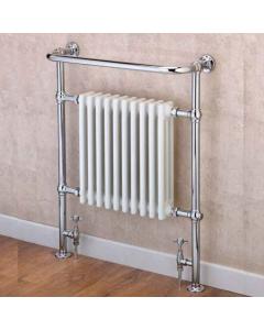 Supplies4Heat Boleyn Radiator Heated Towel Rail 965mm Height x 673mm Width White/Chrome - BOLE966708 BOLE966708