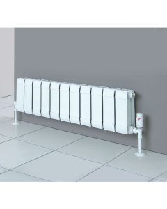Faral Sill Line Low Level Aluminium Radiator 242mm H x 640mm W - 8 Sections FF-2-100-8