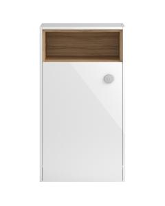 Hudson Reed Coast White Gloss 600 Open Shelf WC Unit - FMC956 FMC956