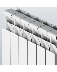 Faral Tropical 95 Plus Aluminium Radiator 672mm H x 660mm W 8 Sections White FT9-672-8