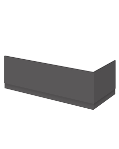 Nuie Athena Gloss Grey Contemporary 1800mm Bath Front Panel - OFF978 OFF978