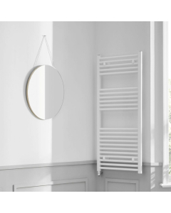 Bestheat Richmond Electric Straight Towel Rail 1186mm High x 600mm Wide In White - 136077 136077