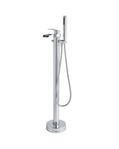 Nuie Rhyme Chrome Contemporary Floor Standing Bath Shower Mixer - TFR392 TFR392