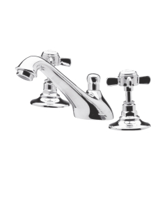 Nuie Beaumont Chrome Traditional 3 Tap Hole Basin Mixer - I307X I307X