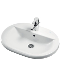 Ideal Standard Concept Oval Countertop Basin 620mm Wide 1 Tap Hole - E500601 IS10245