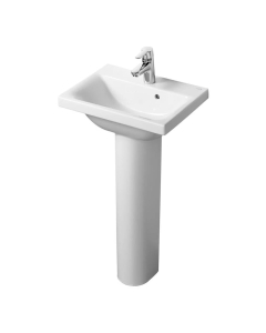 Ideal Standard Concept Space Basin with Full Pedestal 500mm Wide - 1 Tap hole IS10264