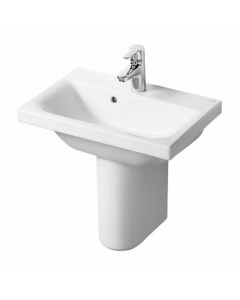 Ideal Standard Concept Space Basin with Semi Pedestal 550mm Wide - 1 Tap hole IS10271