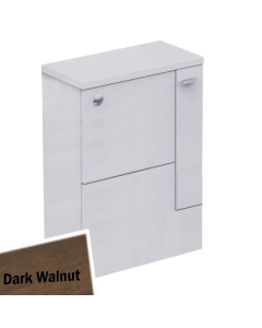 Ideal Standard Concept Space WC Unit with Adjustable Cistern RH 600mm Wide - Dark Walnut IS10426