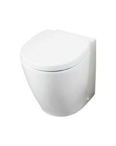 Ideal Standard Concept Space Compact Back to Wall Toilet WC - Soft Close Seat and Cover White IS10068