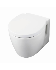Ideal Standard Concept Space Compact Wall Hung Toilet WC - Soft Close Seat and Cover White IS10070