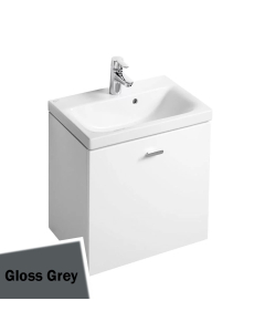 Ideal Standard Concept Space Wall Hung Vanity Unit with Basin 550mm Wide - Gloss Grey IS10486