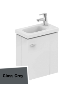 Ideal Standard Concept Space Wall Hung Vanity Unit with RH Basin 450mm Wide - Gloss Grey IS10549