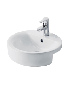 Ideal Standard Concept Sphere Semi-Countertop Basin 450mm Wide 1 Tap Hole - E797901 IS10211