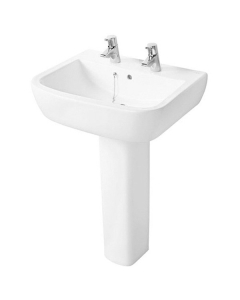 Ideal Standard Tempo Basin and Full Pedestal 550mm Wide 2 Tap Holes IS10152