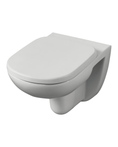 Ideal Standard Tempo Wall Hung Toilet WC - Soft Close Seat 365mm Wide White IS10043