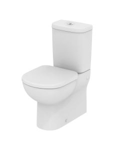 Ideal Standard Tempo Close Coupled Toilet - Push Button Cistern - Standard Seat IS10033