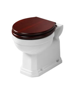 Ideal Standard Waverley Back to Wall Toilet 500mm Projection - Mahogany Seat IS10037