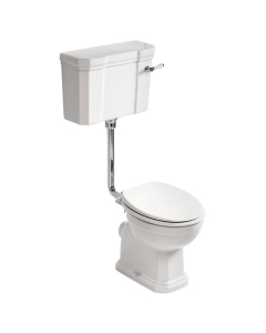 Ideal Standard Waverley Low Level Toilet with Cistern - Standard White Seat IS10069