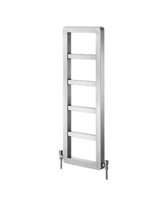 Vogue Zenith Designer Heated Towel Rail 1200mm High x 400mm Wide, Central Heating - IN007 SS120040BS IN007 SS120040BS