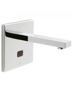 Vado I-Tech Notion Infra-Red Basin Mixer Wall Mounted With Square Back Plate Mains Or Battery Operated Takes Standard Aa Batteries - Ir-109/Not-C/P VADO1813