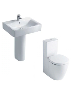 Ideal Standard Concept Value Suite Close Coupled Toilet 1 Tap Hole Basin White IS10009