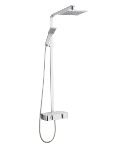 Nuie Complete Showers Chrome Contemporary Thermostatic Shower With Kit - JTY365 JTY365