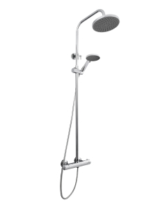 Nuie Complete Showers Chrome Contemporary Thermostatic Bar Shower With Kit - JTY375 JTY375