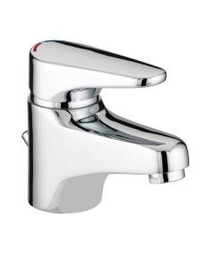 Bristan Jute Basin Mixer with Eco Click Chrome - JU EBAS C JU EBAS C