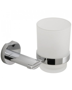 Vado Frosted Glass Tumbler And Holder - Kov-183-C/P VADO1119