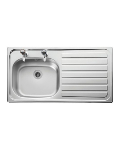 Leisure Lexin LE95R 1.0 2TH Bowl Stainless Steel Kitchen Sink Right Hand LE95R/