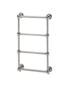 Vogue Colonnade 4 Traditional Heated Towel Rail 775mm H x 475mm W Dual Fuel LG023A BR077047CP-HE