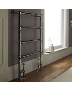 Vogue Ballerina BJ Traditional Heated Towel Rail 850mm H x 600mm Central Heating LG024A MS0850600CP