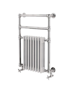 Vogue Regency Traditional Radiator Heated Towel Rail 825mm High x 675mm Wide, Dual Fuel - LG036 BR082067CP-HE LG036 BR082067CP-HE