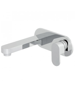 Vado Life 2 Hole Basin Mixer Single Lever With 230Mm Spout Wall Mounted With Oval Back Plate - Lif-109S/A-C/P VADO1703