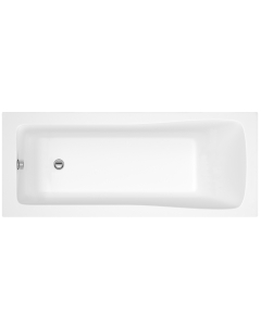 Nuie Linton White Contemporary Square Single Ended Bath 1500x700 - NBA405 NBA405