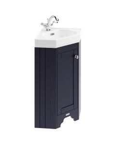 Hudson Reed Old London Twilight Blue Corner Cabinet & Basin - LOF309 LOF309