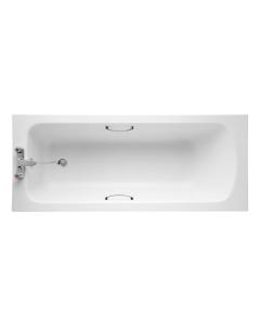 Armitage Shanks Sandringham 21 Bath with Handgrips 1600mm x 700mm - 2 Tap Hole AS10133