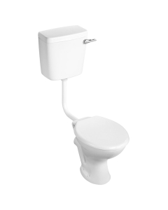 Armitage Shanks Sandringham 21 Low Level Toilet WC Bottom Inlet Cistern Hardwearing Seat AS10113