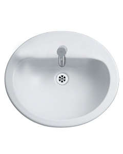 Armitage Shanks Orbit 21 Countertop Basin without Overflow 550mm Wide - 1 Tap Hole AS10055