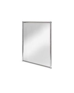 Burlington Traditional Rectangular Bathroom Mirror, 700mm High x 500mm Wide, Chrome BU10802