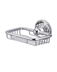 Burlington Traditional Wire Soap Basket, Wall Mounted, Chrome BU10838