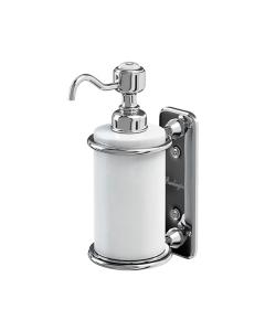 Burlington Traditional Single Soap Dispenser, Wall Mounted, White/Chrome BU10848