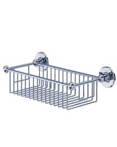 Burlington Traditional Deep Wire Basket, Wall Mounted, Chrome BU10852